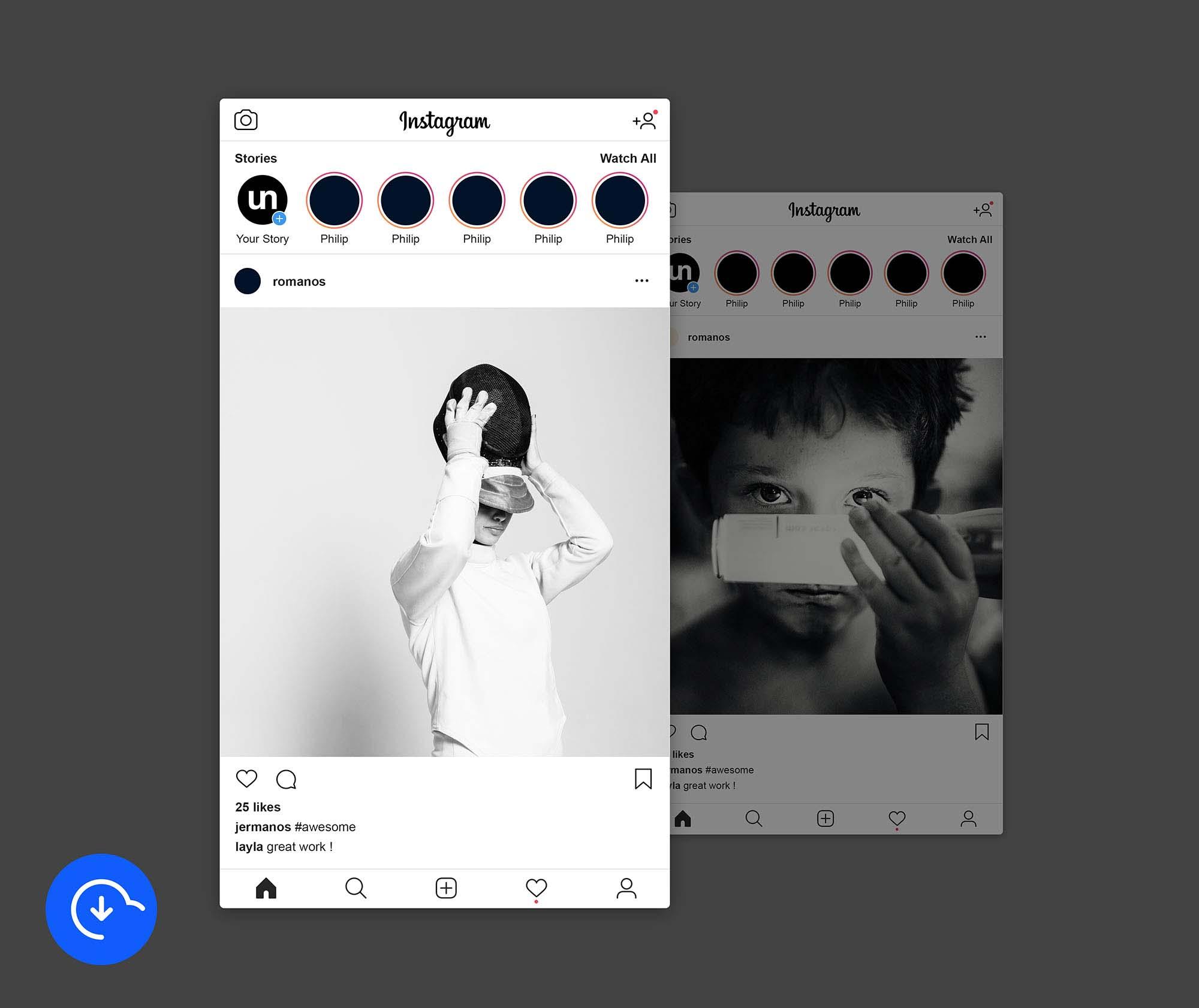 instagram post psd free download