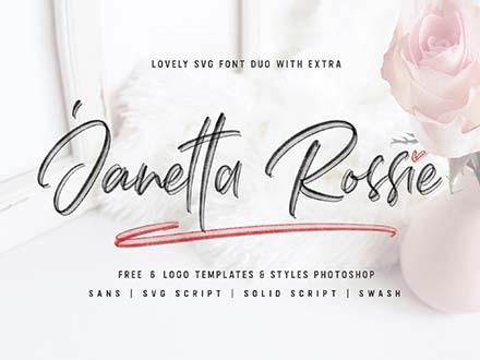 Janetta Rossie Script Font