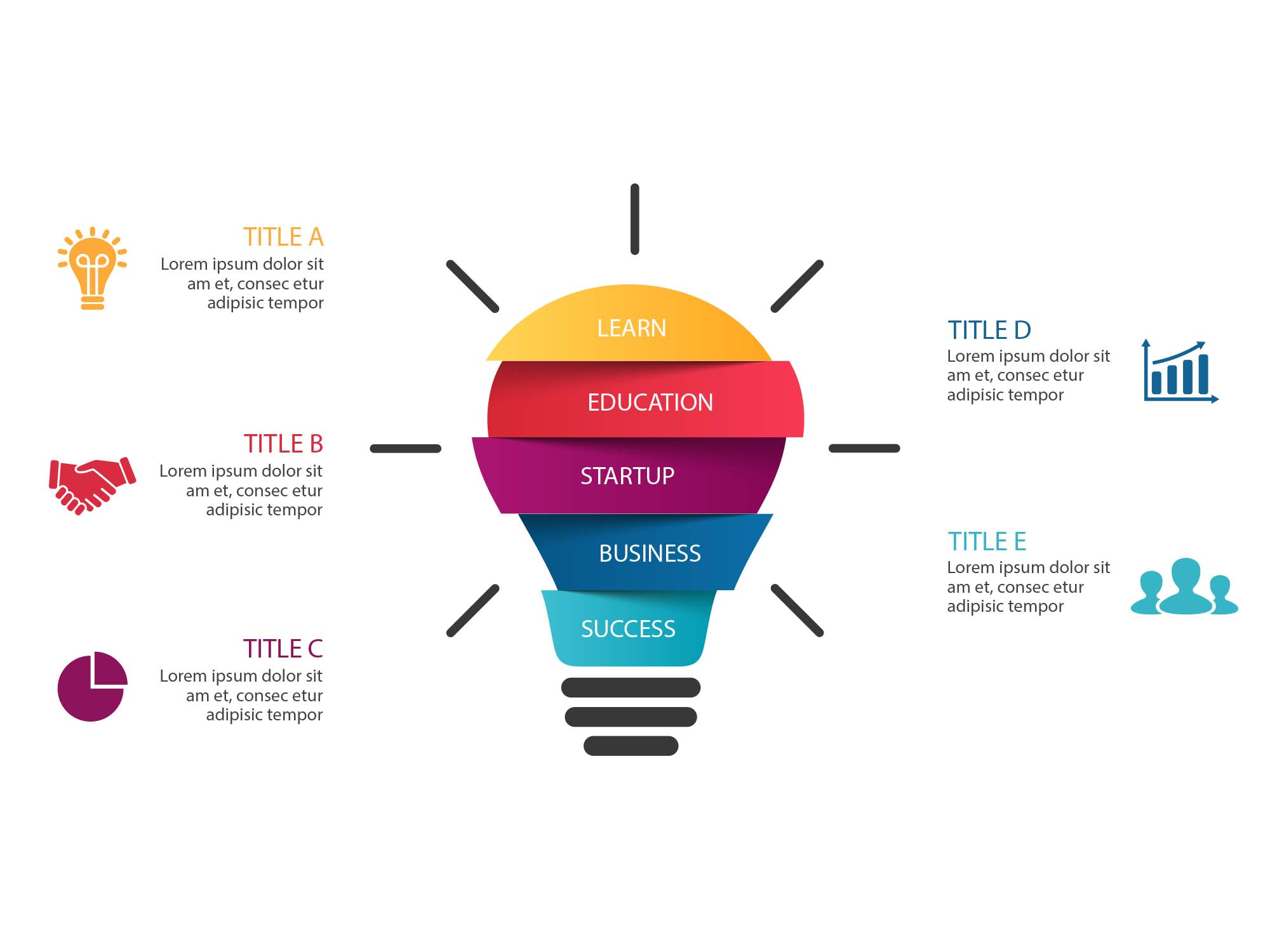 Light Bulb Infographic Template