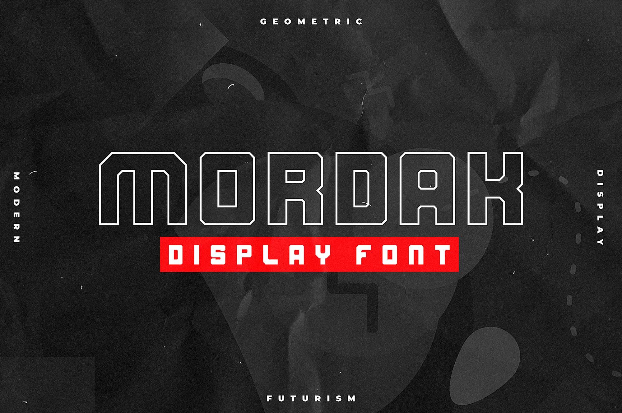 Mordak Display Font