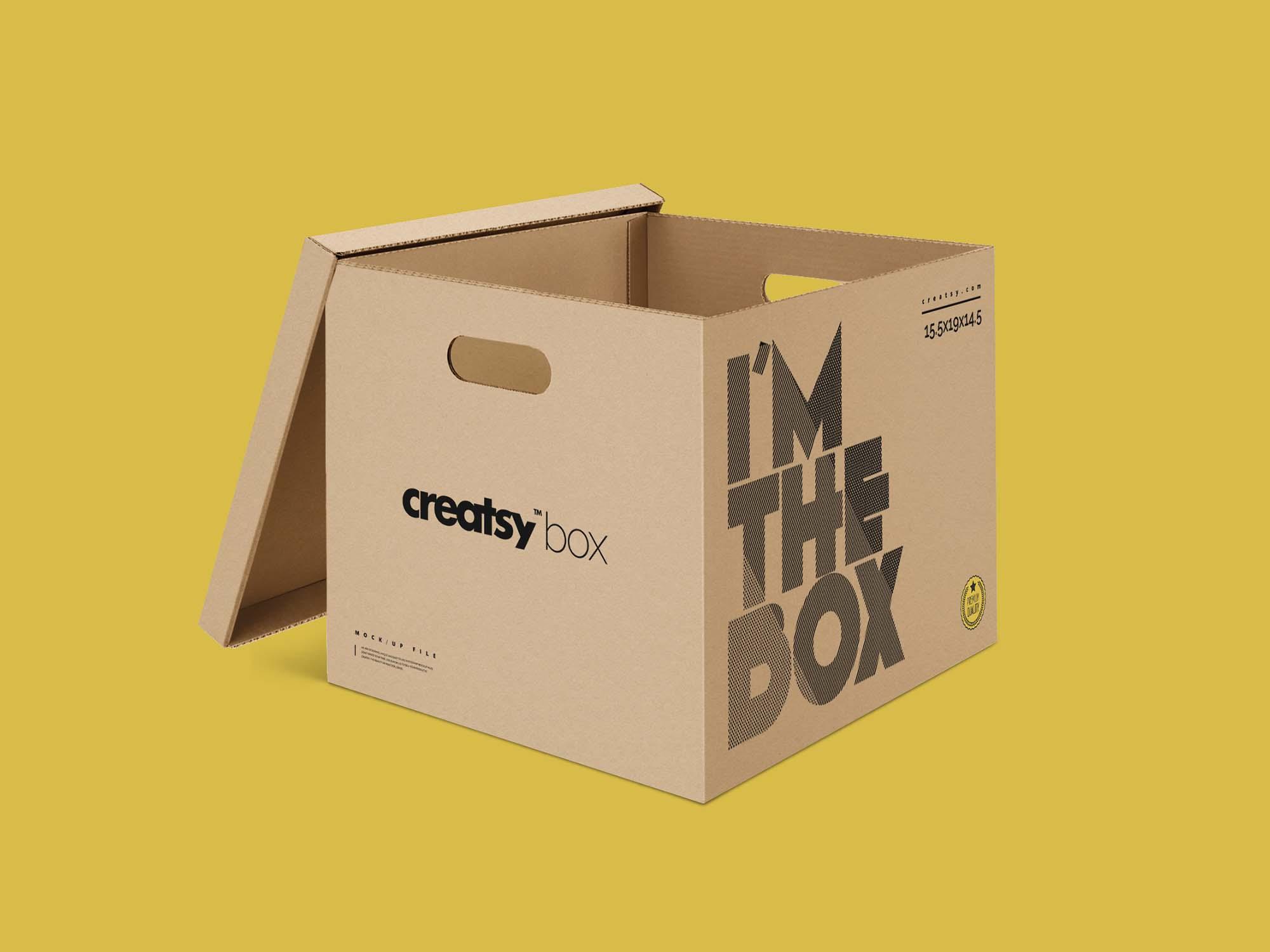 Moving Box Mockup