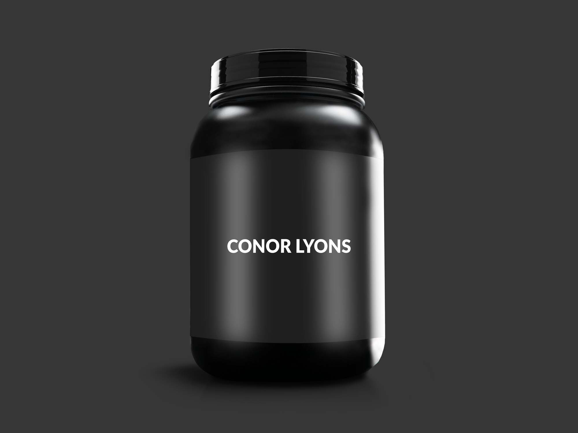Protein Powder Container Mockup