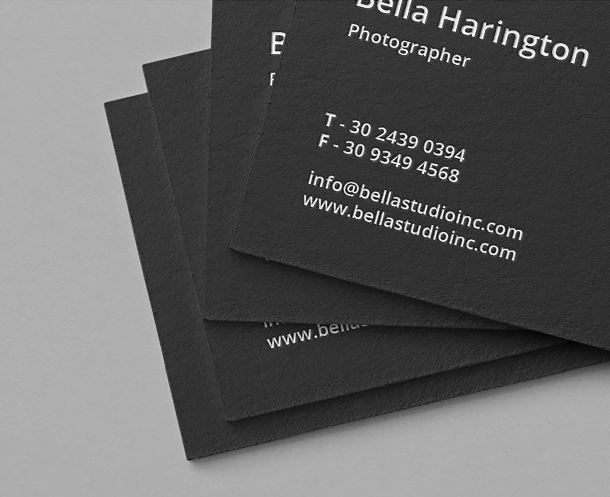 Realistic Business Card Mockup Psd