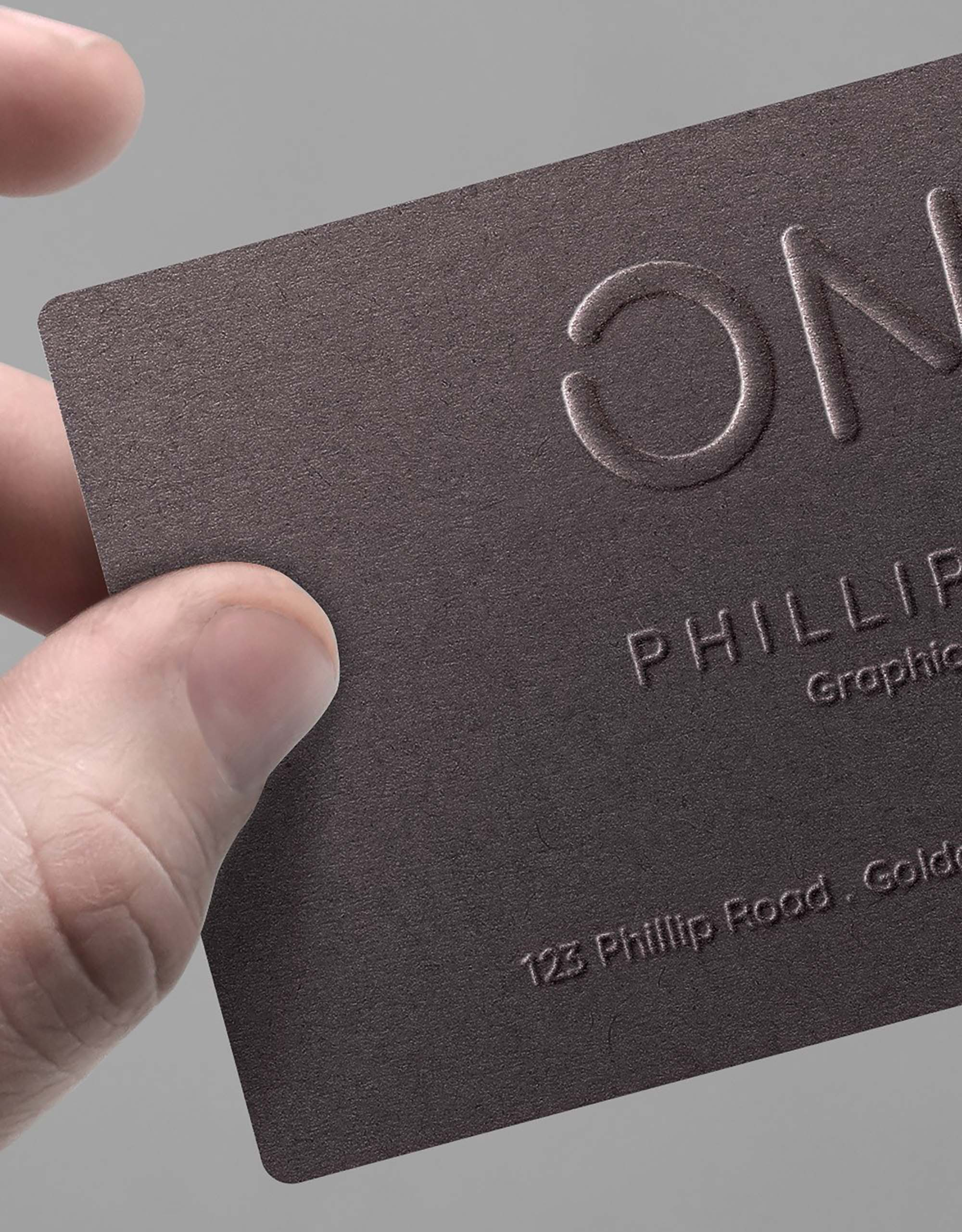 Hand Held Business Card Mockup