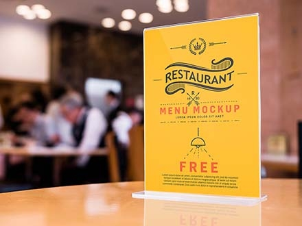Restaurant Table Menu Mockup