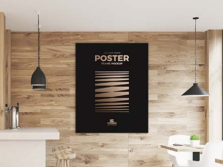 Restaurant Wall Poster Mockup
