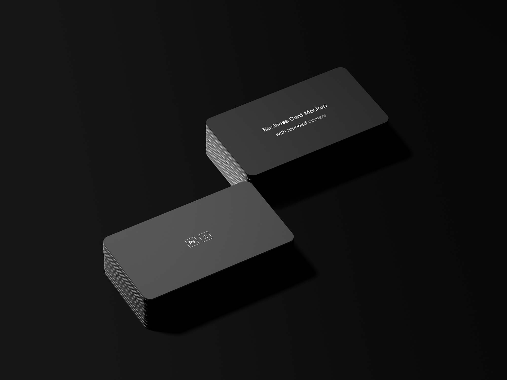 round business card mockup psd free download
