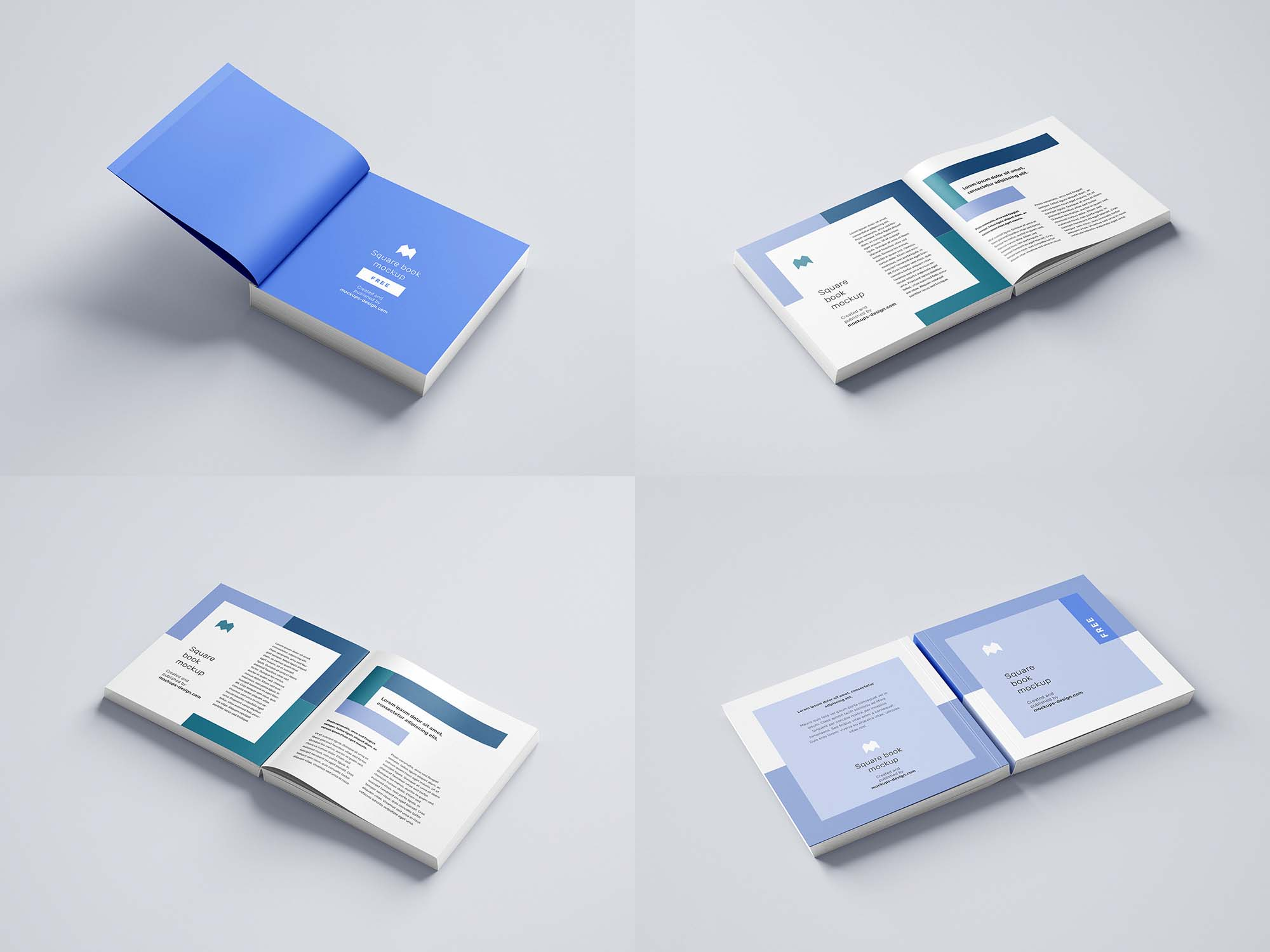 Softcover Square Book Mockup