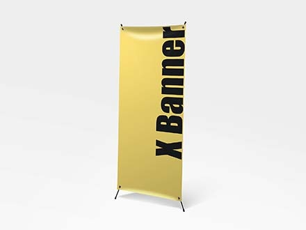 Standing X Banner Mockup