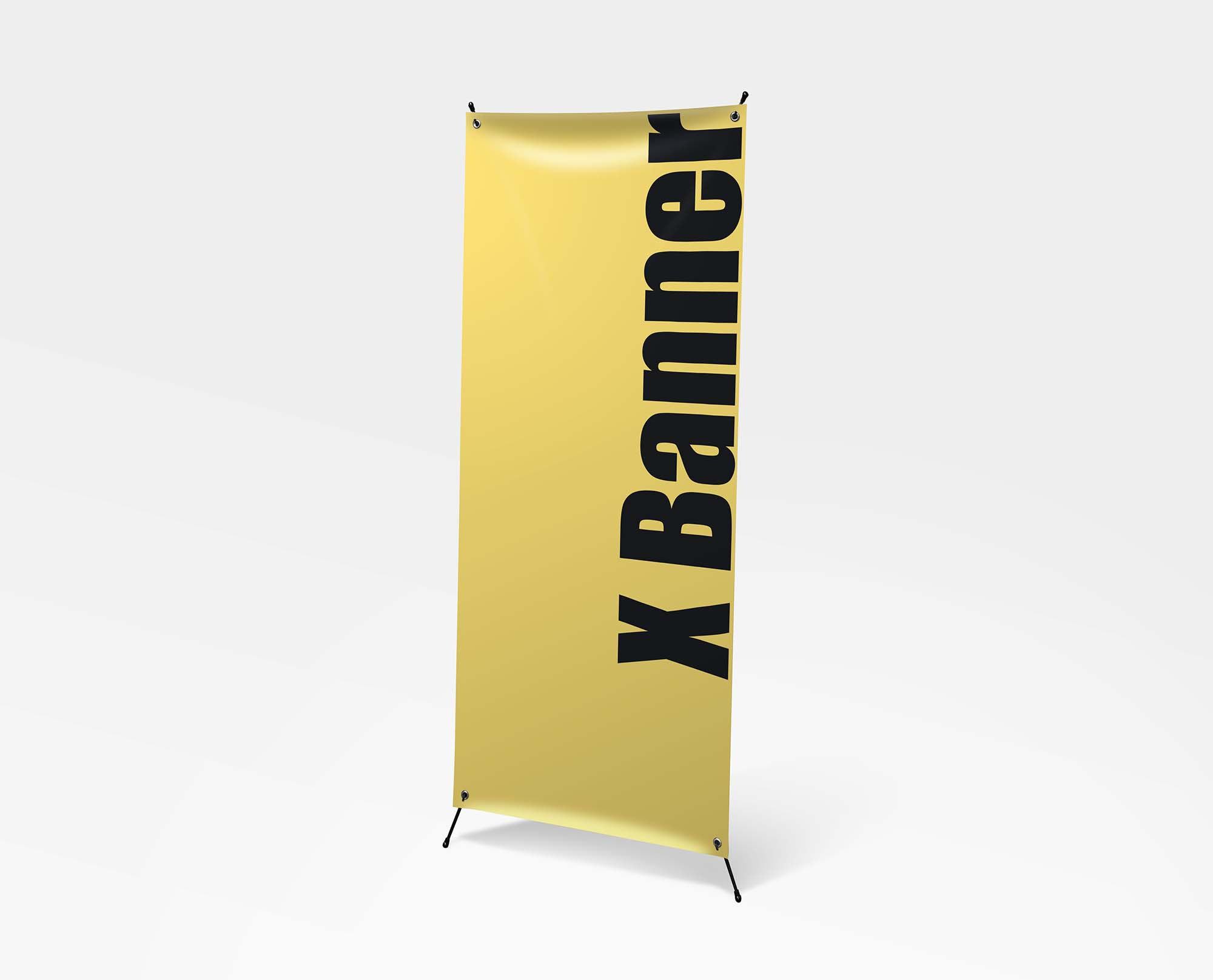 Standing X Banner Mockup