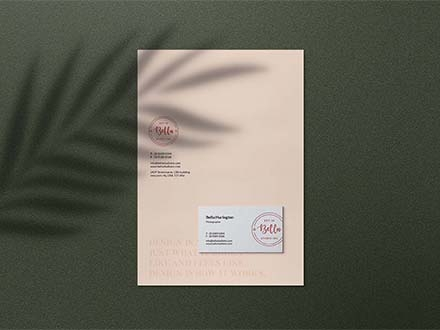 Stationery Mockup with Shadow