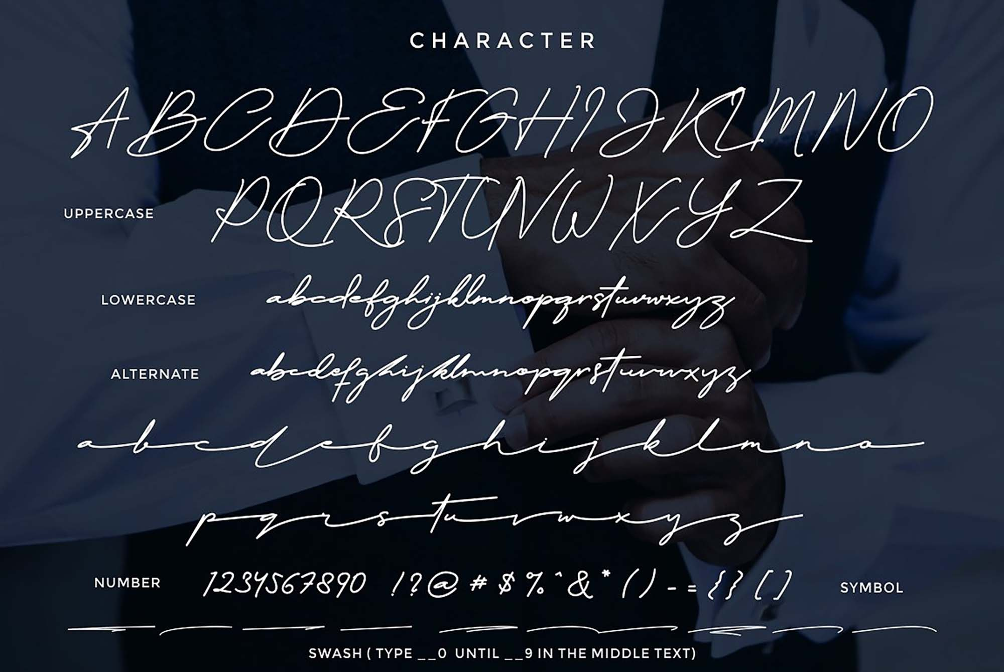 The Doctor Signature Font Characters