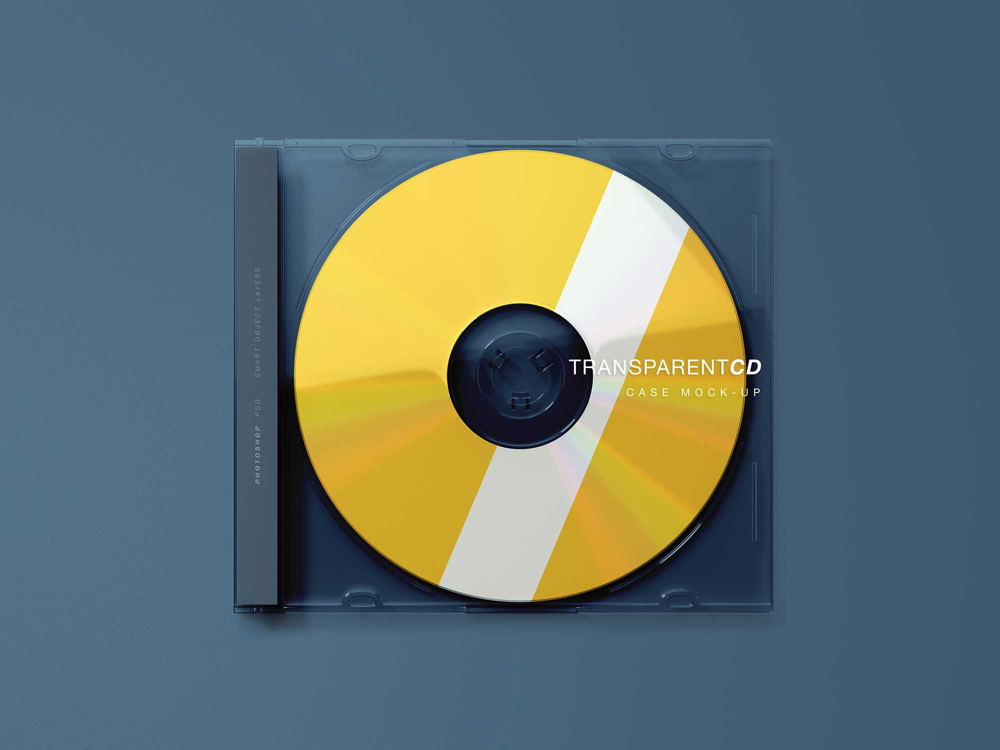 Transparent CD Case Mockup