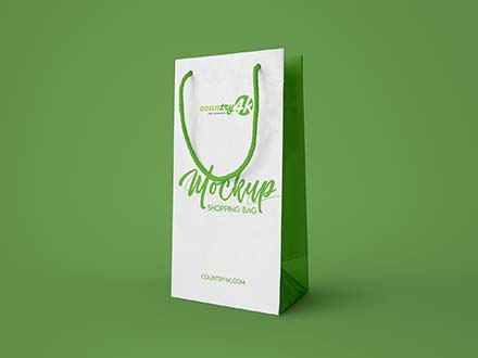 Vertical Shopping Bag Mockup