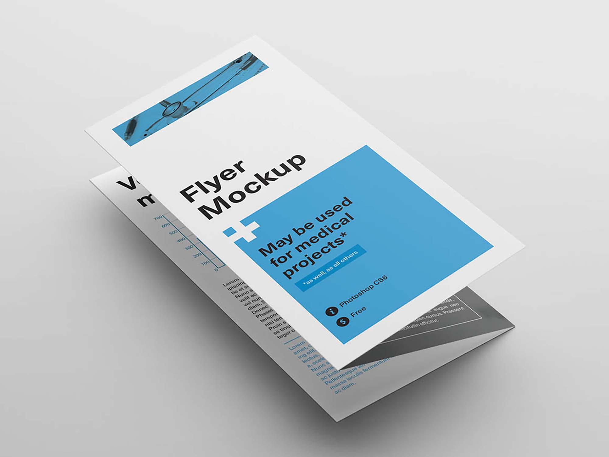 Z Fold Brochure Flyer Mockup Psd