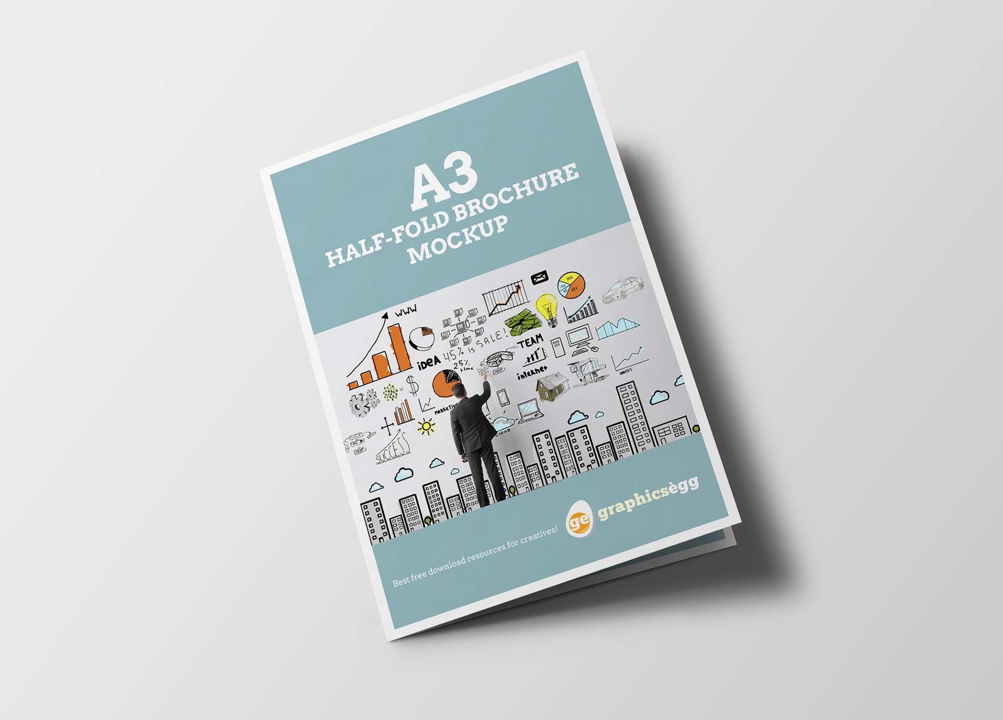 a3 bifold brochure mockup 0