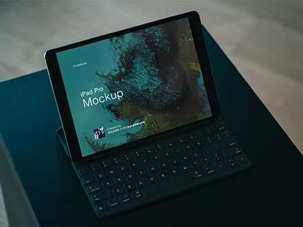 iPad Pro with Keyboard Mockup