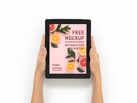 iPad in Hand Mockup