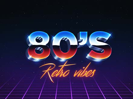 80's Text effect