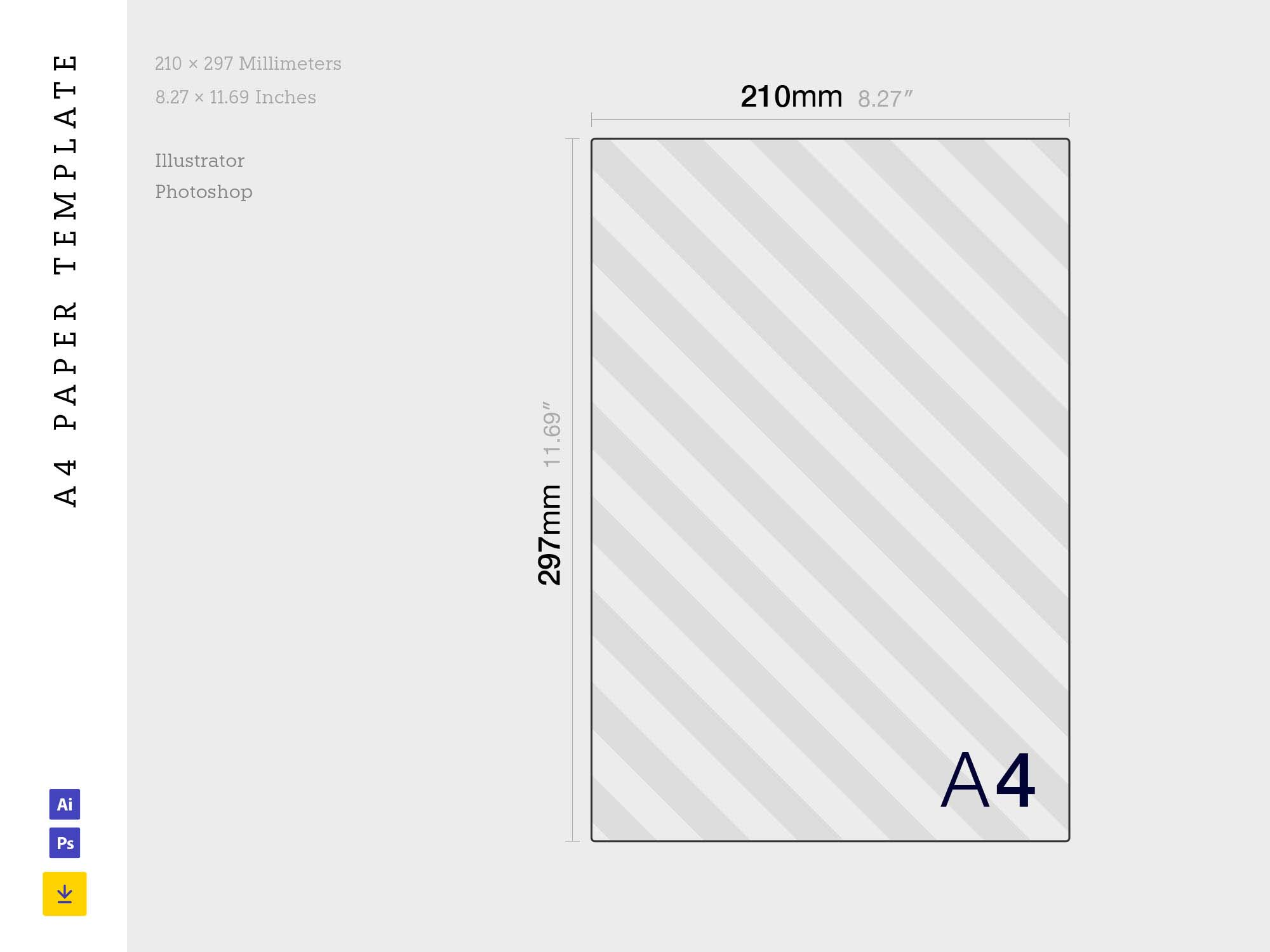 A4 Paper Template Size