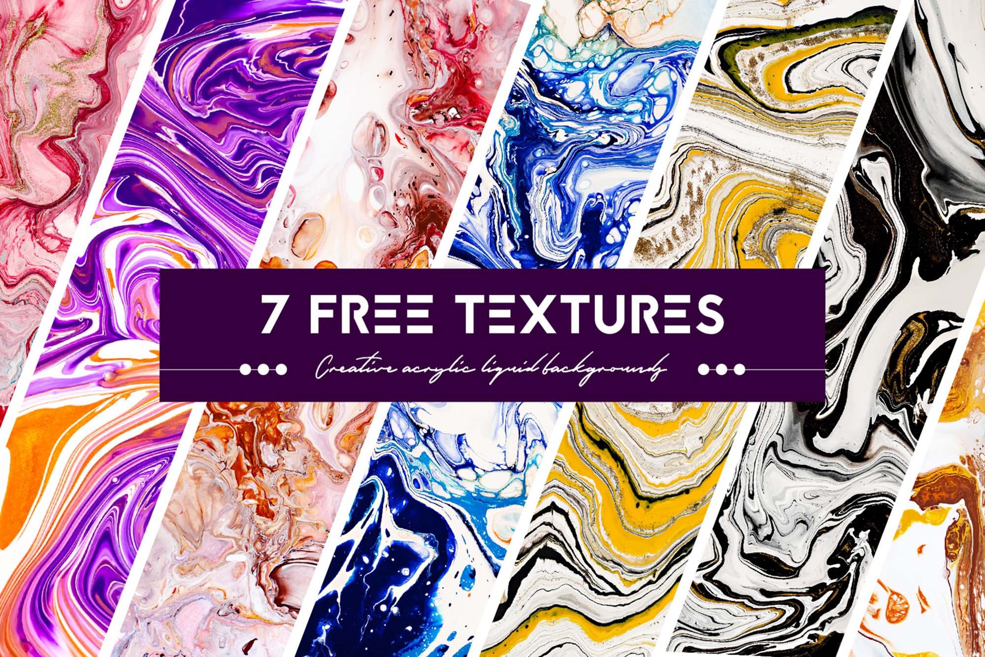 Acrylic Liquid Paint Textures