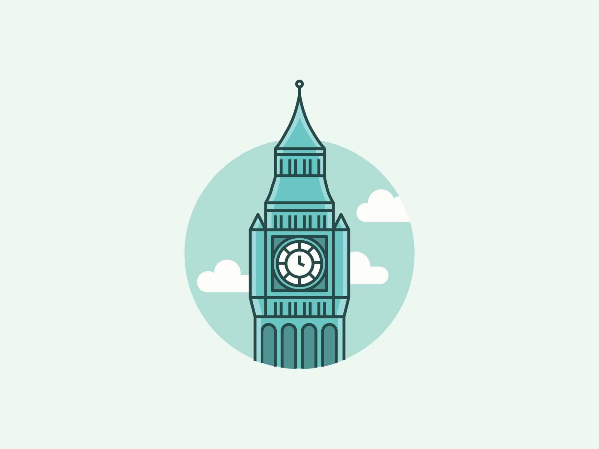 Big Ben Elizabeth Tower Illustration
