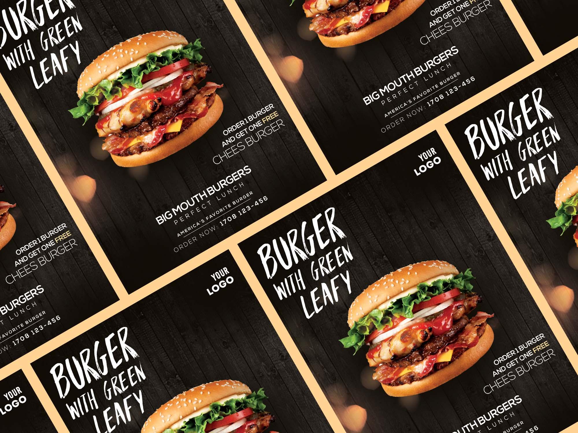 Burger Ad Flyer Templates