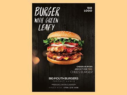 Burger Ad Flyer Template