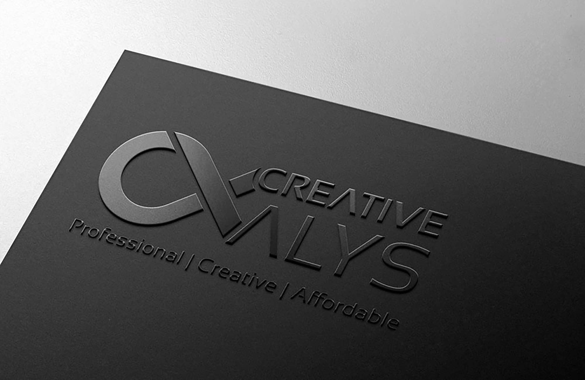 Card Embossed Logo Mockup