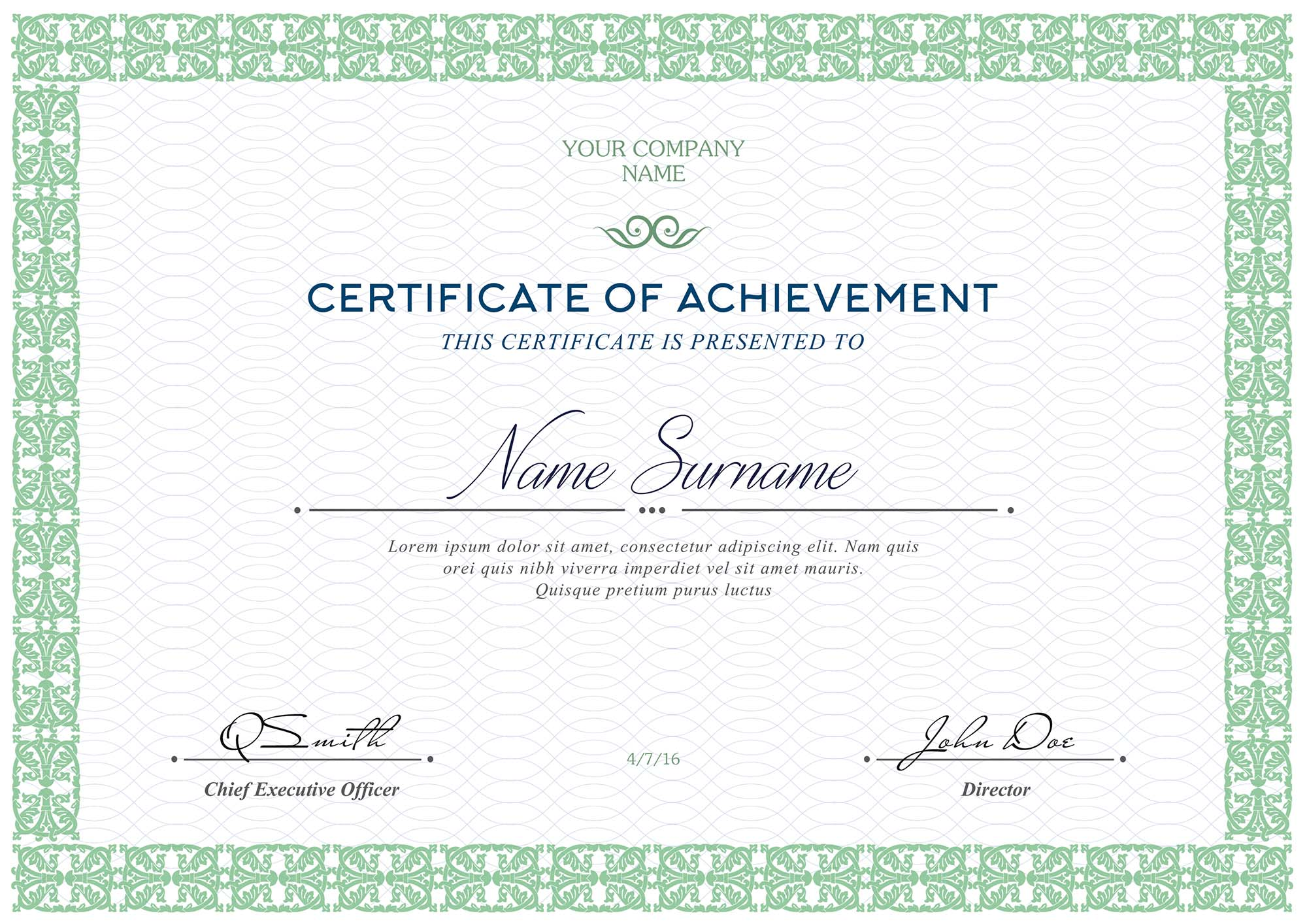 free certificates templates  psd