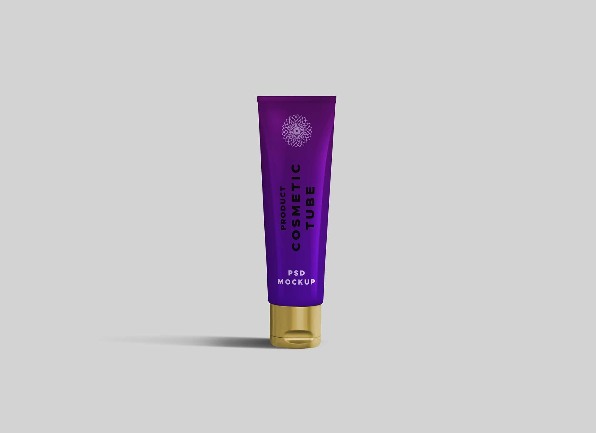 Thin Cosmetic Tube Mockup (PSD)