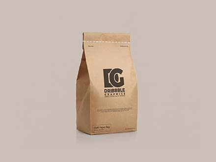 Craft Paper Bag Mockup