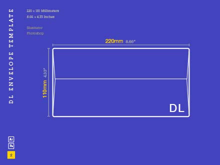 DL Envelope Template