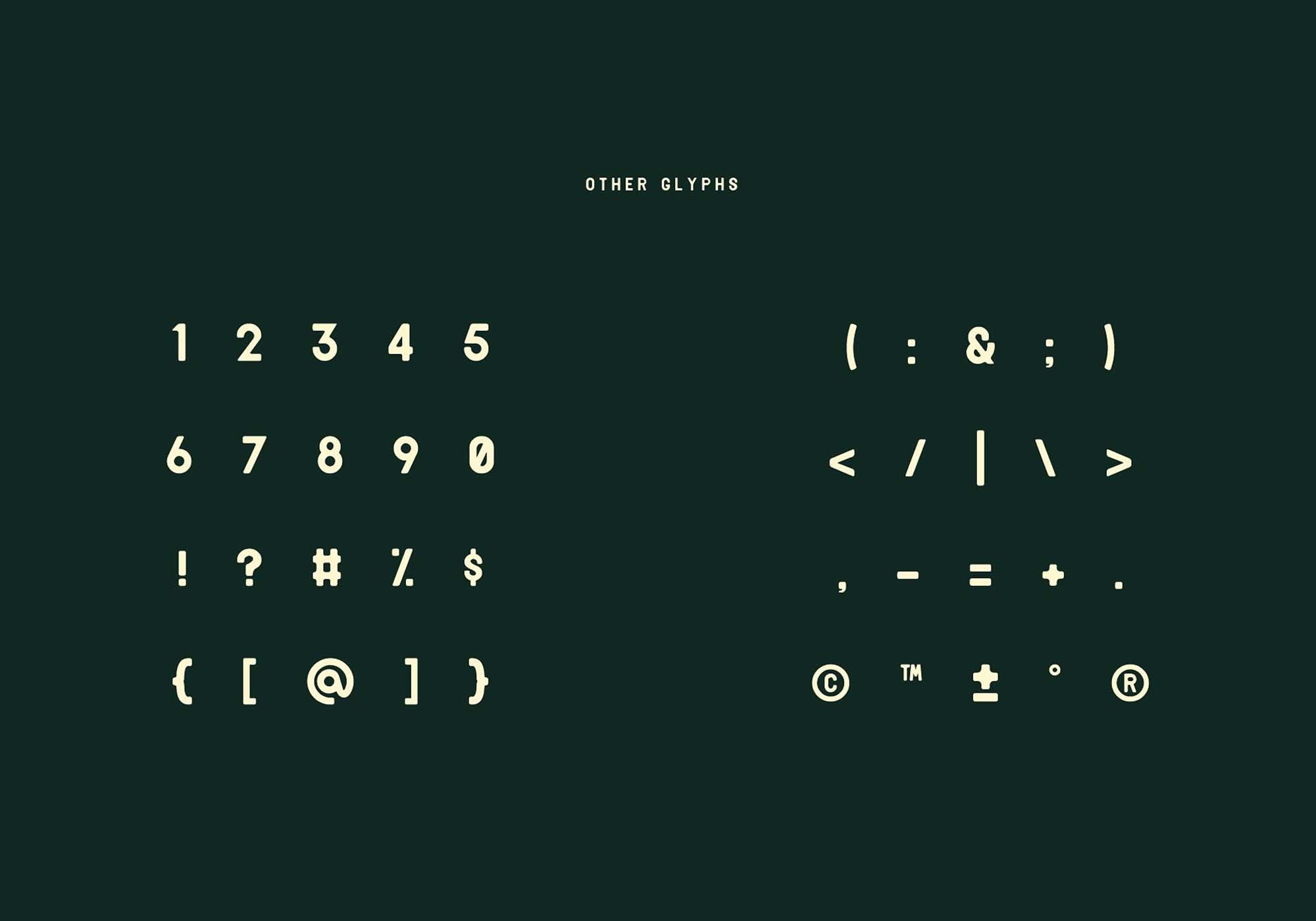 Delio Typeface Numbers