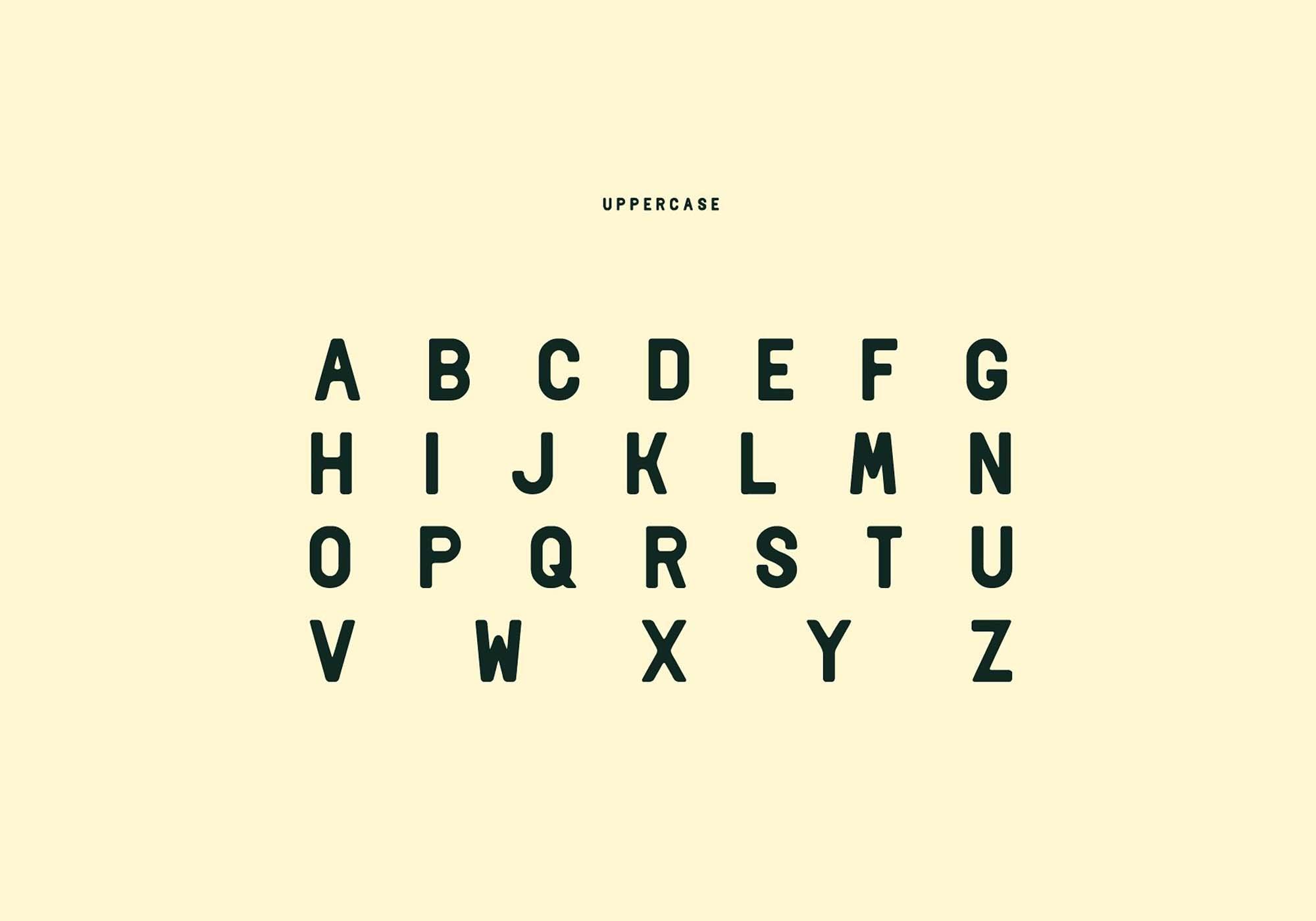 Delio Typeface Uppercase