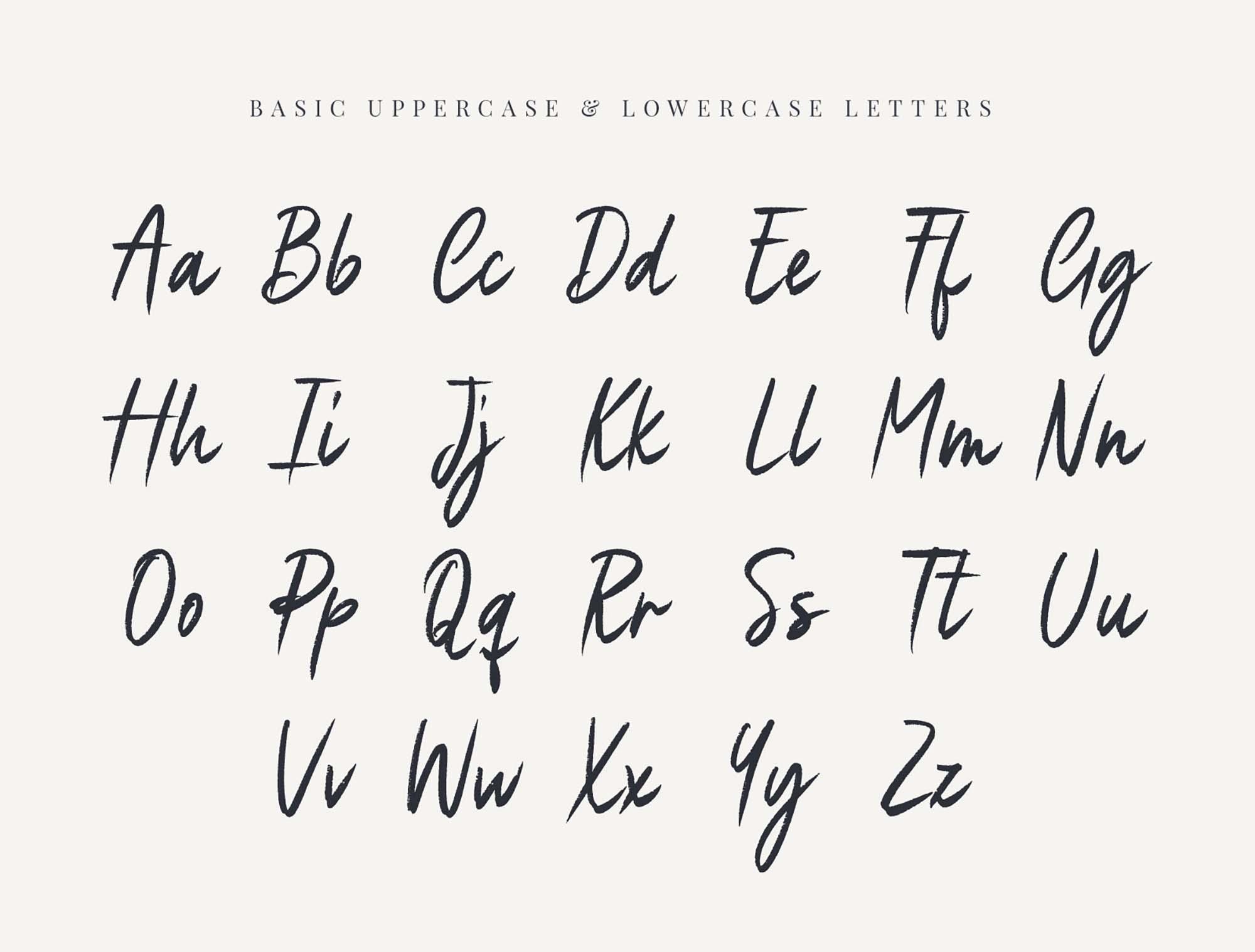 Eustache Font Letters