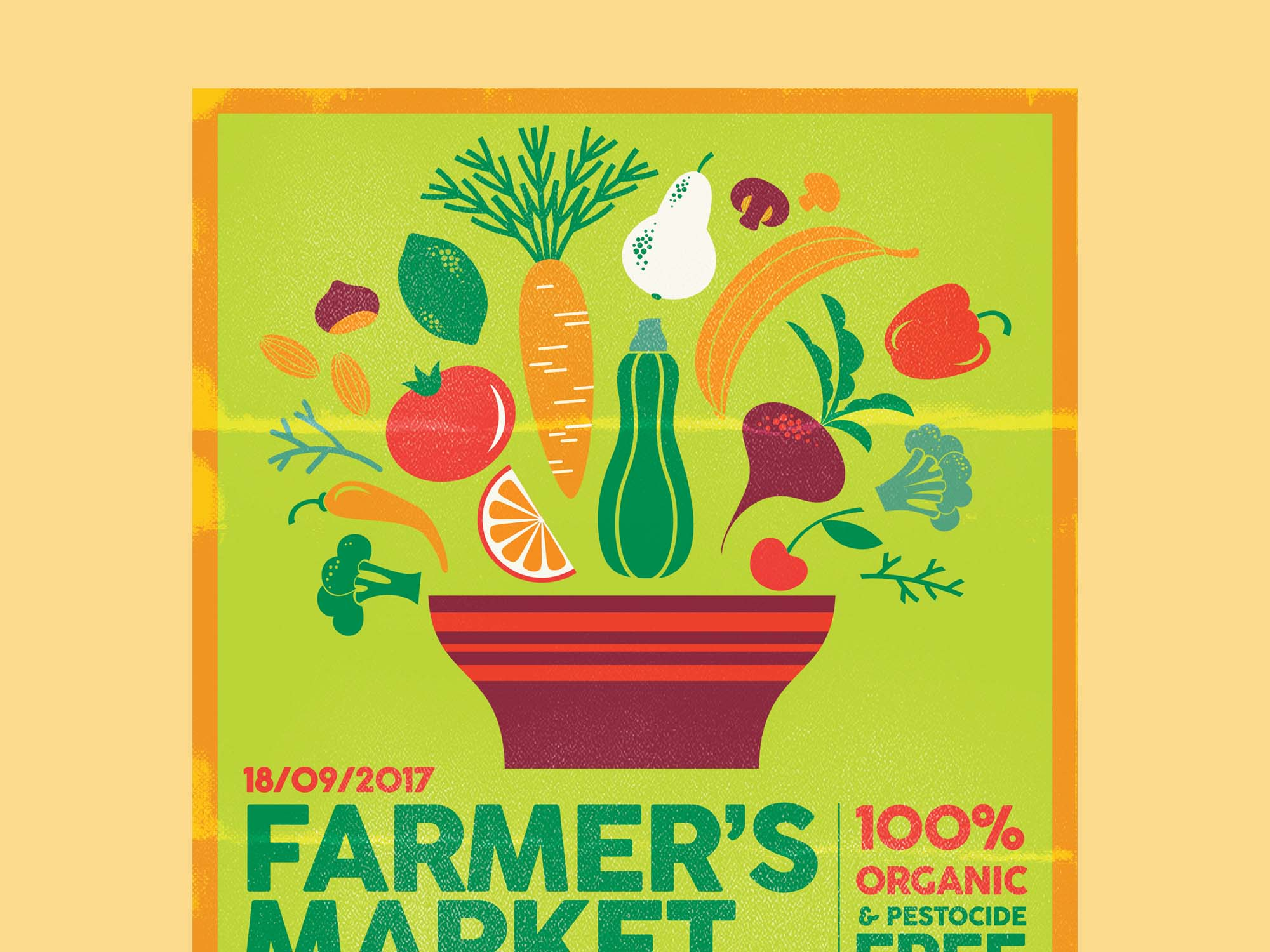Farmers Market Poster Template 1