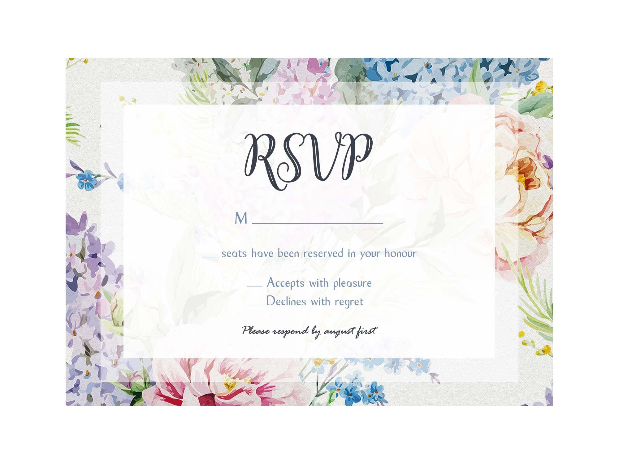 Wedding RSVP Template