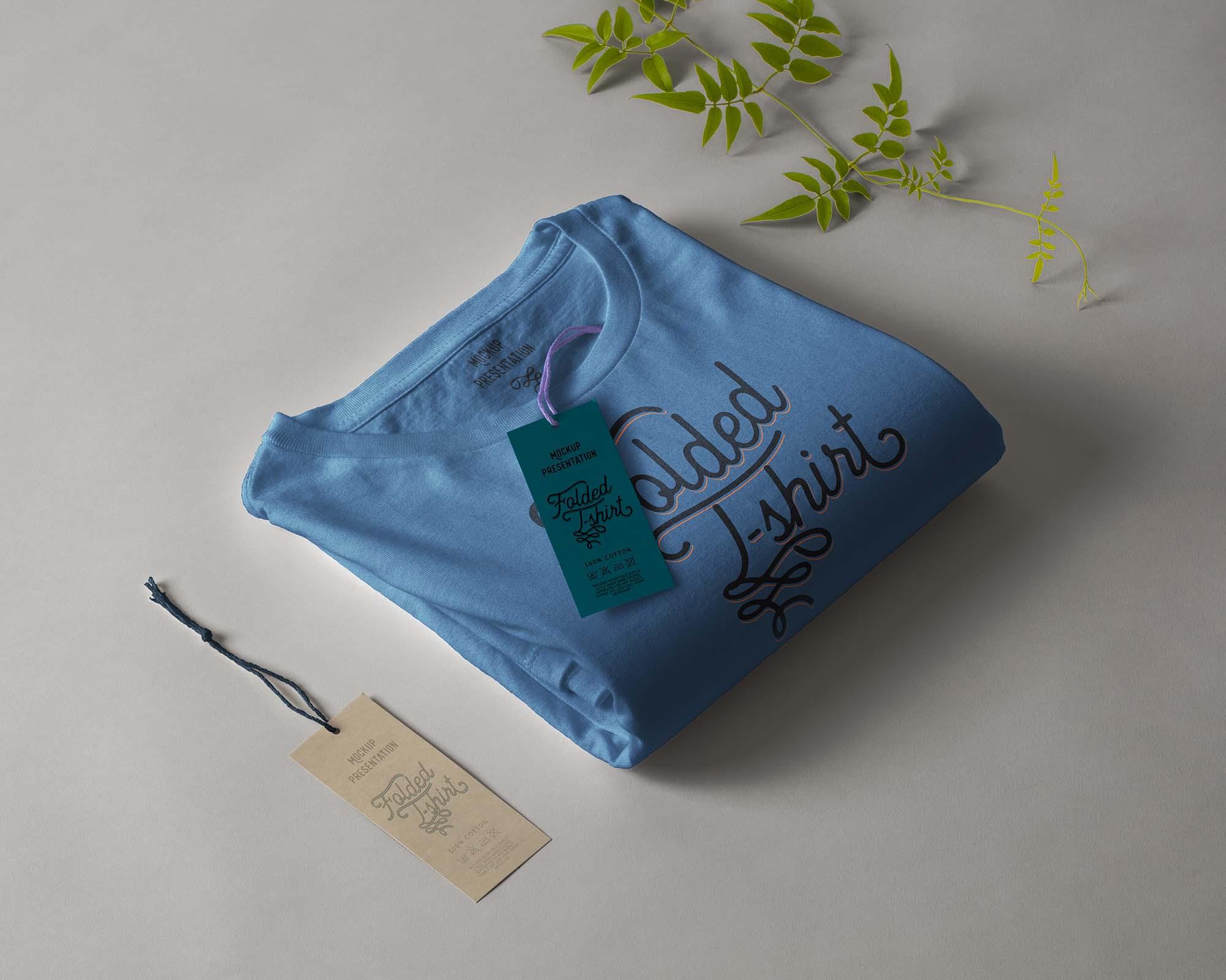 Folded T-Shirt Mockup 1