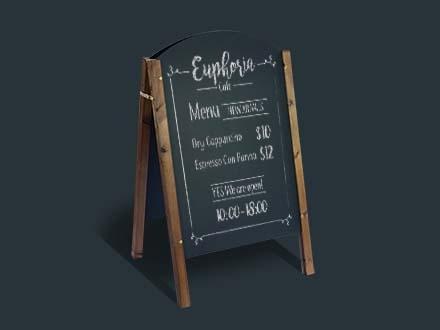 A-Frame Chalkboard Restaurant Menu Mockup 2