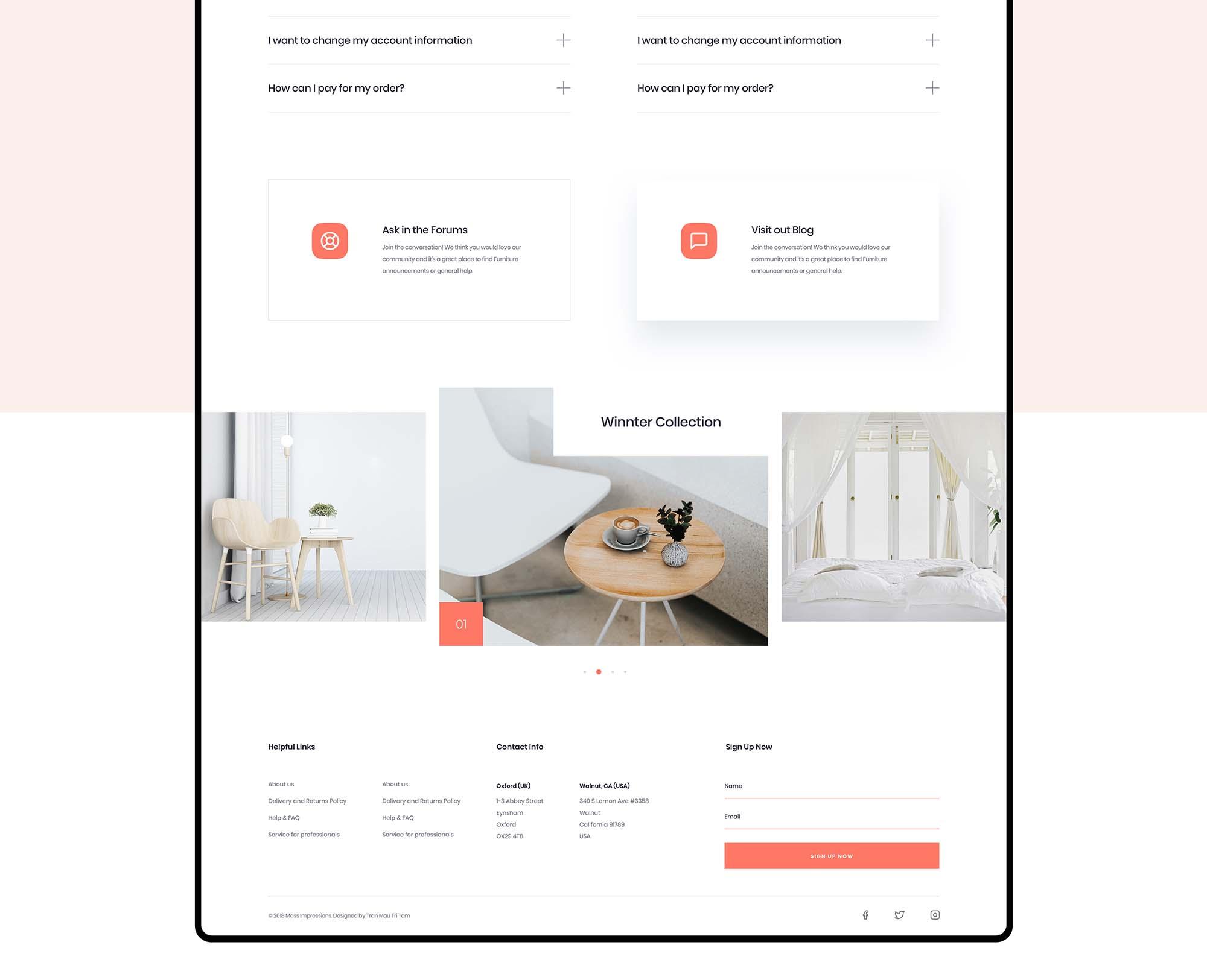 Furniture App Template 2