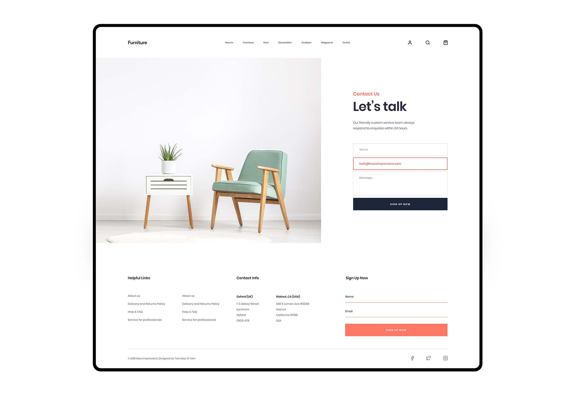 Furniture App Template 3