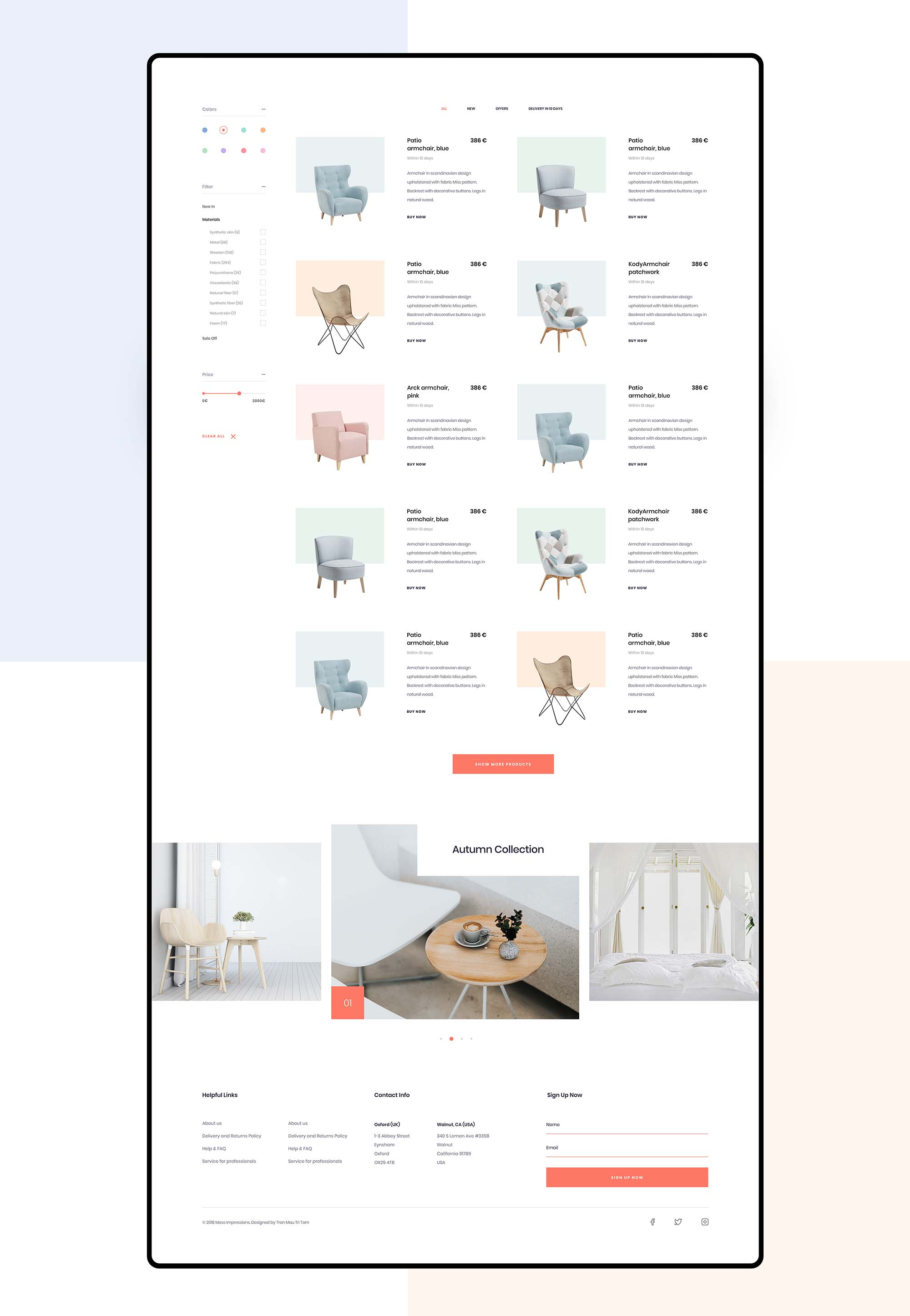 Furniture App Template 6