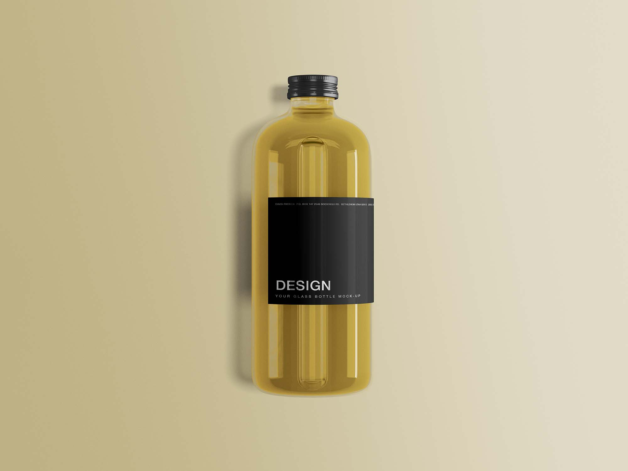 Glass Bottle Mockup 1
