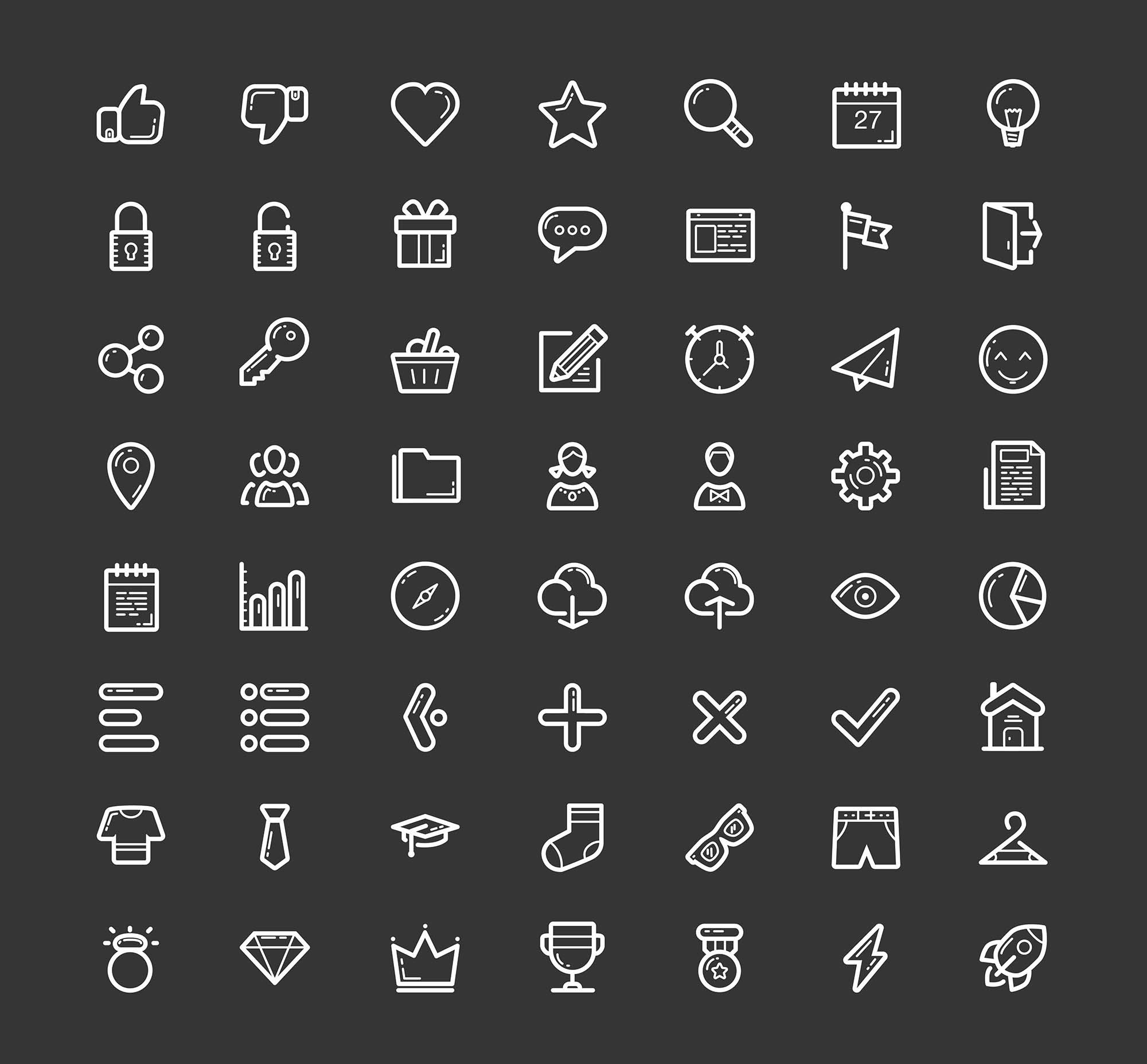 Helium Line Icons 2