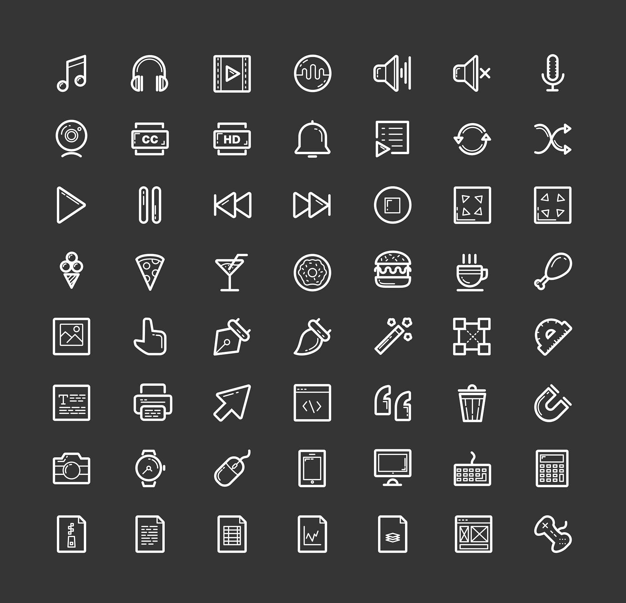 Helium Line Icons 1