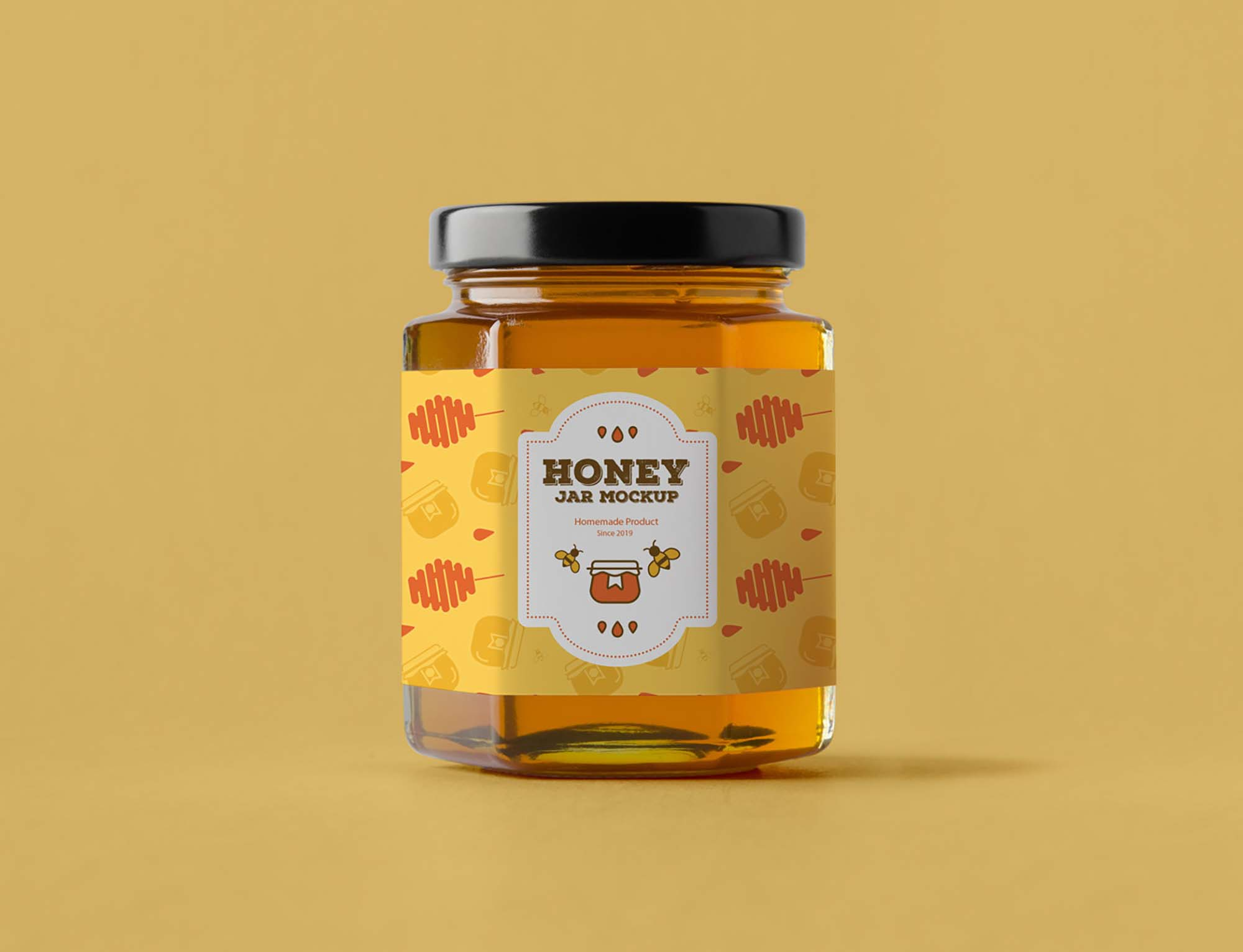 Honey Jar Mockup 1