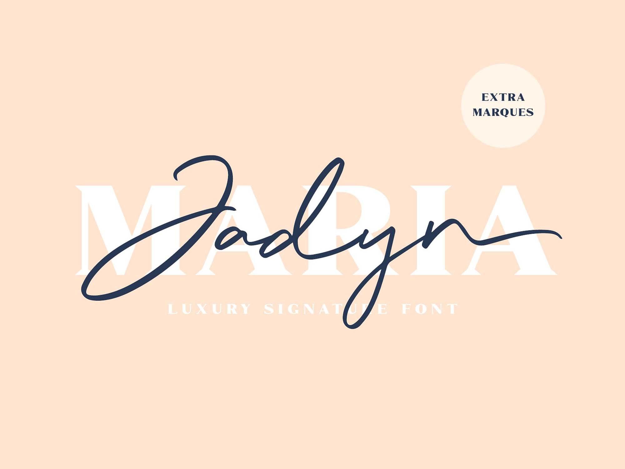 Jadyn Maria Signature Font