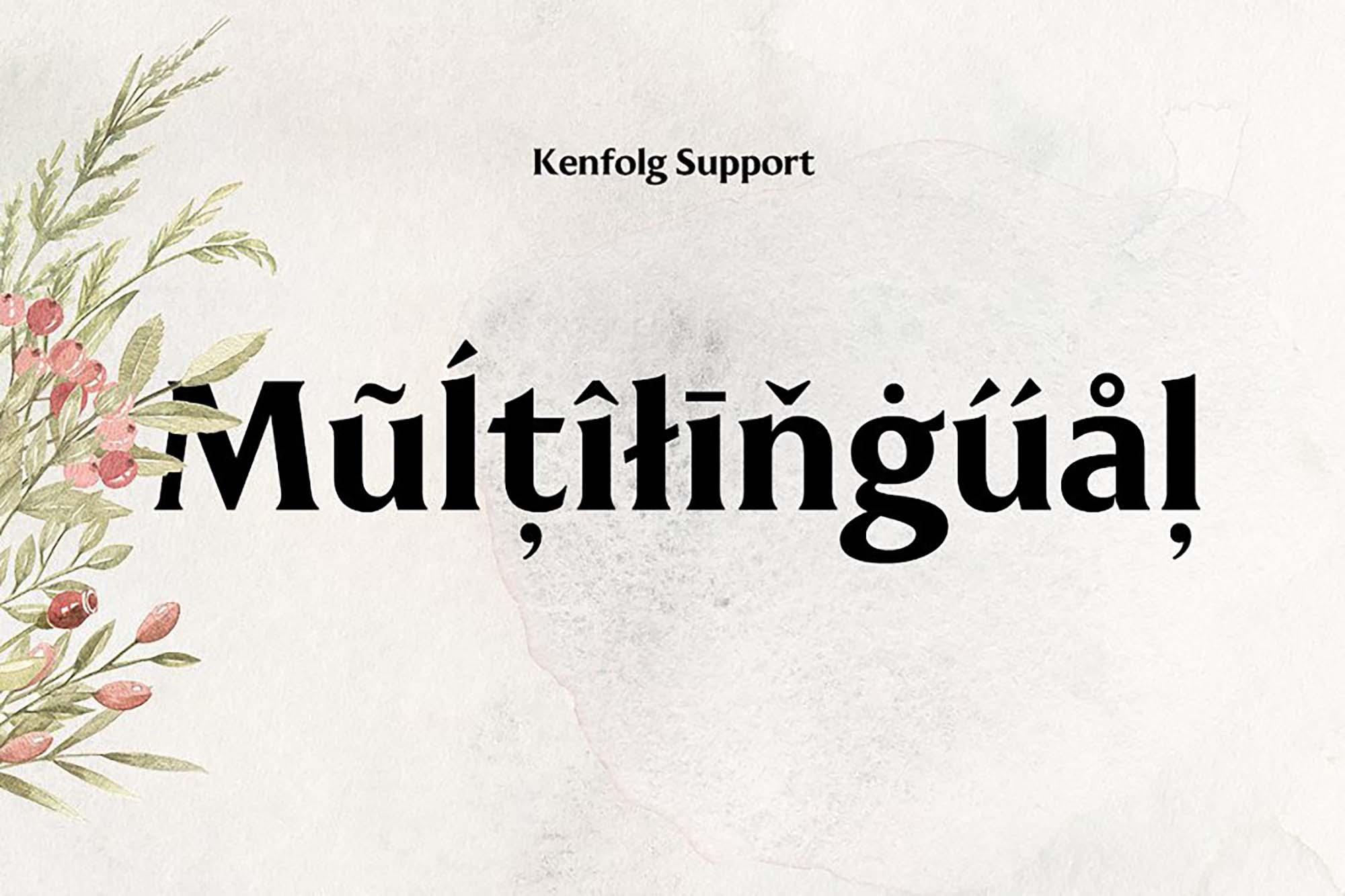 Kenfolg Font Multilingual