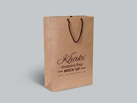 Khaki Shopping Bag Mockup